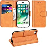 Adicase Coque iPhone 7 Housse Etui Cuir Portefeuille Case pour Apple iPhone 7/8 4,7'...