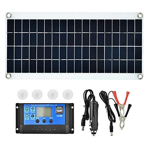 Decdeal Solarpanel und 10A PWM Solar Laderegler 20W 5V Tragbarer Doppelter USB Anschluss Flexibles Hocheffizientes Sunpower Polycrystalline Solarmodul Power Kit mit Controller