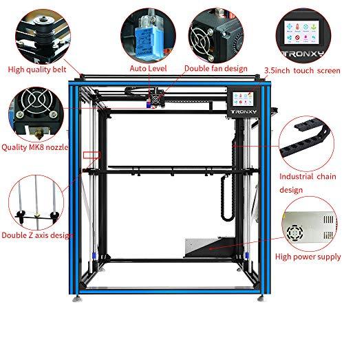 TRONXY X5SA-500 3D-Drucker-Bausatz, Auto-Nivellierung, Glühfadensensor, Druckwiederaufnahme, Vollmetallwürfel mit 3,5-Zoll-Touchscreen, Supergroßdruckgröße 500 * 500 * 600 - 2