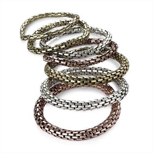 Slip in maglia metallica, 7-Set Gold & Bronze & colore: argento