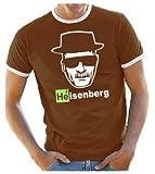 Coole-Fun-T-Shirts T-Shirt Heisenberg Head Logo, Braun, L, 10874