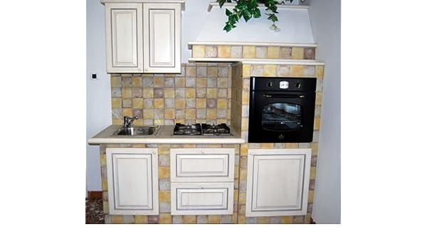 Cucina finta muratura mobili legno panna anticato Contessa ...
