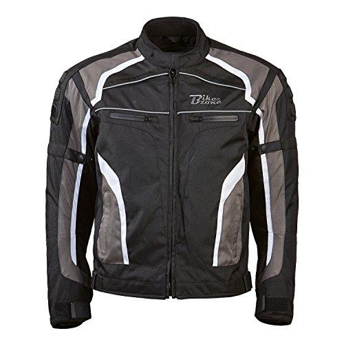 #Motorradjacke Connect von Bikezone, Schwarz/Grau, XL#