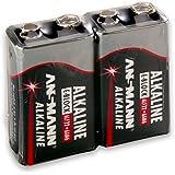 ANSMANN Red Alkaline Batterie 9V E-Block 6F22 Longlife Alkalibatterie (2er Shrink)