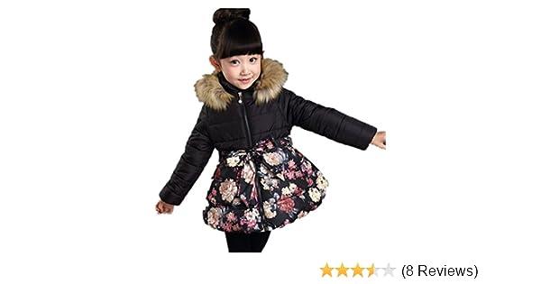 88c1562b7 Beyond©Kids Girl Padded Coat Hooded Jacket winter Coat  Amazon.co.uk ...