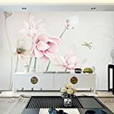 HUANGYAHUI murale Cinese Moderno Semplice Lotus Sfondo, Accogliente Camera Da Letto, Soggiorno, Film E Televisione Pitture Murali, Tv Parete Di Sfondo Wallpaper