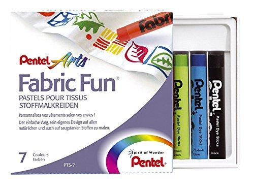 Pentel Pastell-7Wachsmalstifte-Etui für Textil Kleidung Design Zeichnung und Kunst 7109 -