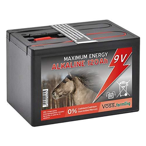 Voss.farming Batteria 9 V Alcalina 120AH, per elettrificatori da recinzione elettrica, picco