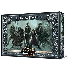 Edge Entertainment- Canción de Fuego y Hielo el Juego de Miniaturas - Héroes Stark II, Color (EECMSI10)