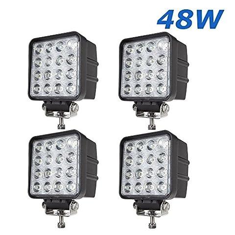 BRIGHTUM 4.3 inch 4560LM phare de travail LED 48W lampe voiture Work light Phare LED moins cher Lampe à LED Lumière (4