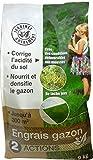 Florendi Jardin 3342382002492 Engrais Gazon 2EN1 9KG, Blanc, 26,5 x 11,5 x 58 cm