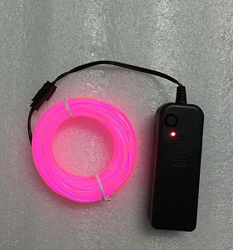 Betrieben EL Kabel Neon Beleuchtung für Weihnachtsfeiern Rave Partys Halloween Kostüm oder einem Einzelhandelsgeschäft Display XINBAN [Energieklasse A] (Pink) (Bilder Von Haustiere In Kostüme)