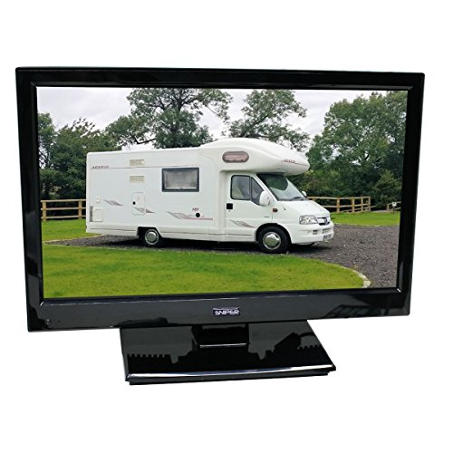 Sniper 16? HD Ready LED Travel TV with built in DVD, Satellite and Freeview, 12V & Mains. DVB-T2 & DVB-S2