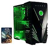 VIBOX Dragon 5–für Gaming-PC (Intel i7–6700K, 32GB RAM, Festplatte 2TB, Nvidia Geforce GTX 960) Neon Grün