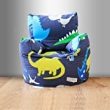 Ready Steady Bed Childrens Filled Bean Chair Dinosaurs In the Dark