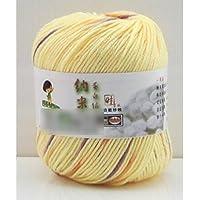 HuaYang Couleur mélangé fil à tricoter laine cosy fil de laine pour tricoter à la main(1Pcs: Orange_Jaune)