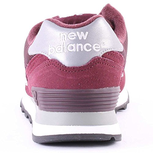 New Balance M W574, Baskets Basses Homme Rouge