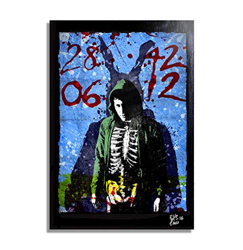 nk the Rabbit - Original gerahmt Fine Art Malerei, Poster, Leinwand, Artwork, Druck, Plakat, Leinwanddruck, film ()