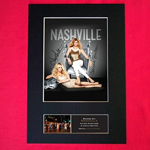 NASHVILLE US TV SERIES Signed reproduction autograph Mounted Photo PRINT