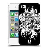 Head Case Designs Doitsu Koi-Karpfen Tattoo Schwarz-Weiss Ruckseite Hülle für Apple iPhone 4 / 4S
