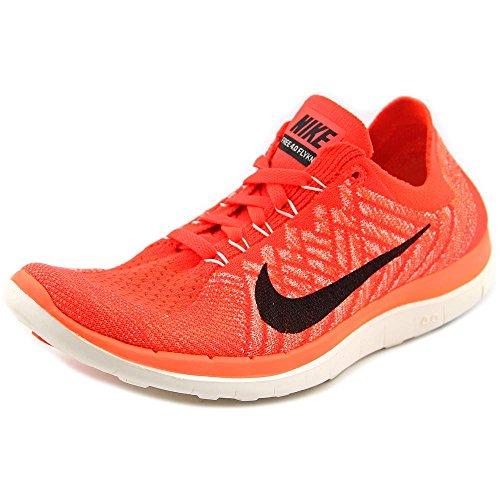 Nike Wmns Free 4.0 Flyknit, Chaussures de Running Entrainement Femme Orange - Naranja (Brght Crmsn / Blk-Hypr Orng-Vlt)