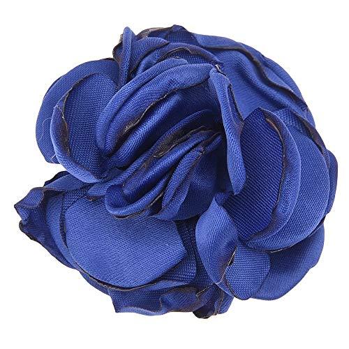 Fang-denghui, 10 STÜCKE Brennen Blumen Mode Haarschmuck Satin Blume Künstliche Rose Blume Niedlichen Stoff Blumen Keine Haarspange Für Stirnband (Color : Royal Blue) China Blue Royal Satin
