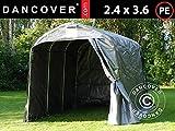 Dancover Lagerzelt Zeltgarage Garagenzelt PRO 2,4x3,6x2,34m PE, Grau