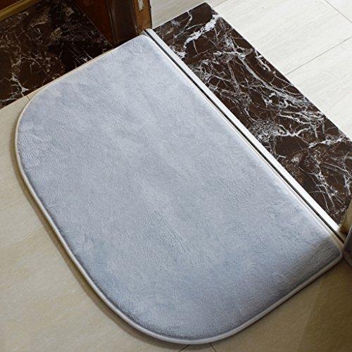 Inclinazione della moquette interna Bagno Cucina Camera Bagno antiscivolo stuoia di acqua di assorbimento tappetino (2 Pezzi Ottomana)