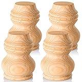 Ersatzfüße für Möbel, 7,6 cm hoch, 4 Stück, DIY Massivholz Sofa Bein für Couch Bad Schminktisch Stuhl Fernsehtisch Loveseat Kommode Extenders - einfach zu installieren