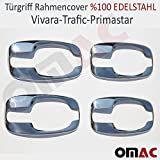 Opel Vivaro / Renault Trafic / Nissan Primastar Türgriff Rahmencover 4tlg V2A Chrom