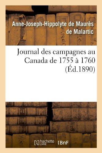 Journal des campagnes au Canada de 1755 ...