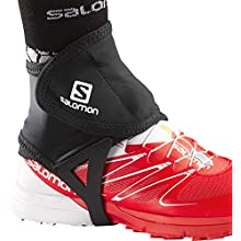 SALOMON Low Gaiters for Hiking/Running, Ankle Protection, Trail Gaiters Low, Black, L, L32916600