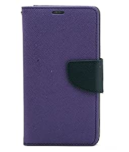 Mobimax Diary Wallet Case Cover For HTC Desire 828 Dual SIM-Purple