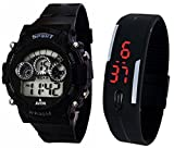 #5: BLUE DIAMOND Sports Watch Collections - Digital Black Dial Sports Watch & Unisex Silicone Black Led Digital Watch for Boys, Girls, Men, Women & Kids 9700