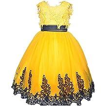 KekeHouse®Bambina Fiore Abiti Per sposa Pizzo applique archi Bambini  spettacolo del vestito una linea b1ec002fe92