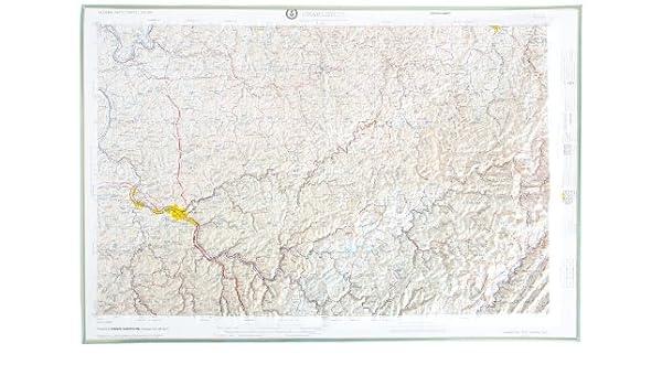 American Educational West Virginia Charleston Map with Gold Plastic Frame 31-1//2 Length x 21-1//2 Width 31-1//2 Length x 21-1//2 Width NJ175-FG