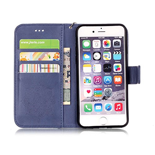 PU für Apple iPhone 6 Plus (5.5 Zoll) iphone 6S Plus Hülle,Geprägte Campanula Handyhülle / Tasche / Cover / Case für das Apple iPhone 6 Plus (5.5 Zoll) iphone 6S Plus PU Leder Flip Cover Leder Hülle K 2