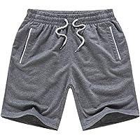Pantalones de secado rápido Hombres Boardshorts Casual Holiday Pantalones cortos de playa suelta 4XL Gris A