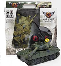 New Pinch Remote Control Rechargeable Army Tank with Sound and Lights for Kids