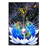 Mikolot 5D DIY Diamond Embroidery Global Butterfly Painting Home Decor Cross Stitch 15.75x11.81in