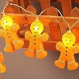 Prevently LED Cartoon Bösewicht Lichterkette für innen und außen,Batteriebetrieben Weihnachtslichterkette für Weihnachtsbeleuchtung, Balkon, Außen Deko, Innen 1.2m10led 2.5m20led (2.5m20led)