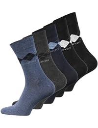 Lot de 10 paires de chaussettes classiques - motif carreaux - sans élastique - homme
