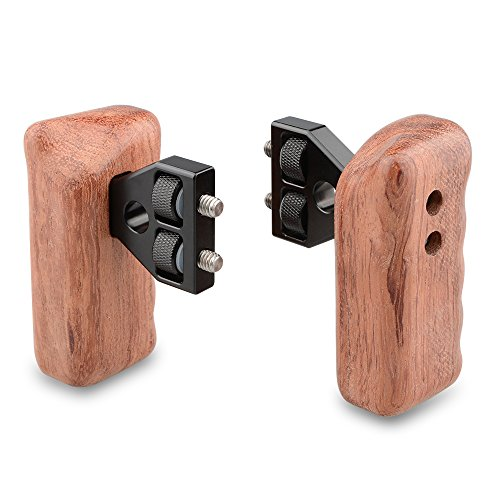 CAMVATE DSLR con manico in legno con connettore per DV video camera Cage (1 coppia)