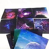 Origami,70 Blatt Sky Stars Origami Papier Set Strapazierbar Faltpapier 10 Mustern Farben für Kunst und Handwerk Projekte 15x15cm Platz für Kinder und Erwachsene
