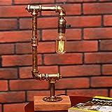 Vintage Rustic Steampunk Tischlampe Licht, Wasserpfeife Schreibtisch Lampen Für Bar, Club, Schlafzimmer, Wohnzimmer, Hotel, Kaffeehaus Höhe 44cm ( Color : Retro lamp B models )