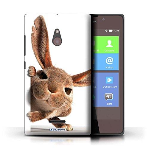 Kobalt® Imprimé Etui / Coque pour Nokia XL / Chien somnolent conception / Série Animaux comiques Petit lapin curieux