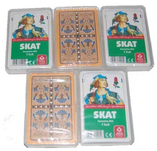 Preisvergleich Produktbild 5 x Skat Skatkarten deutsches Blatt ASS Altenburger
