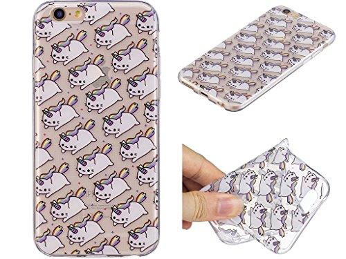 Cover iPhone 6 Plus / iPhone 6S Plus , YIGA unicorno palloncino Cristallo Trasparente Silicone Morbido Case Molle TPU Shell Caso Protezione Custodia per Apple iPhone 6 Plus / iPhone 6S Plus (5.5) WL1