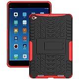 KATUMO® Funda Tablet Mi Pad 2, Carcasa de Piel Protectora Case Cover para Xiaomi Mi Pad 2 7.9'' Funda Dura Cubierta Silicona Cubrir-Roja