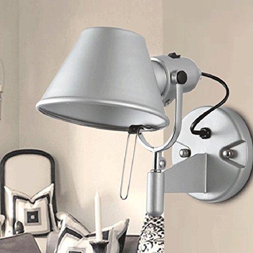 Chapeau De Paille D'Argent, Mur De La Chambre, La Lampe En Aluminium, Matériau Métal Lampe Led Engineering Hotel, Lampe De Chevet, Lampe Murale
